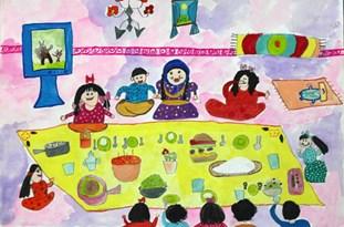 دیپلم افتخار مسابقهی نقاشی هیکاری ژاپن به کودک سقزی رسید
