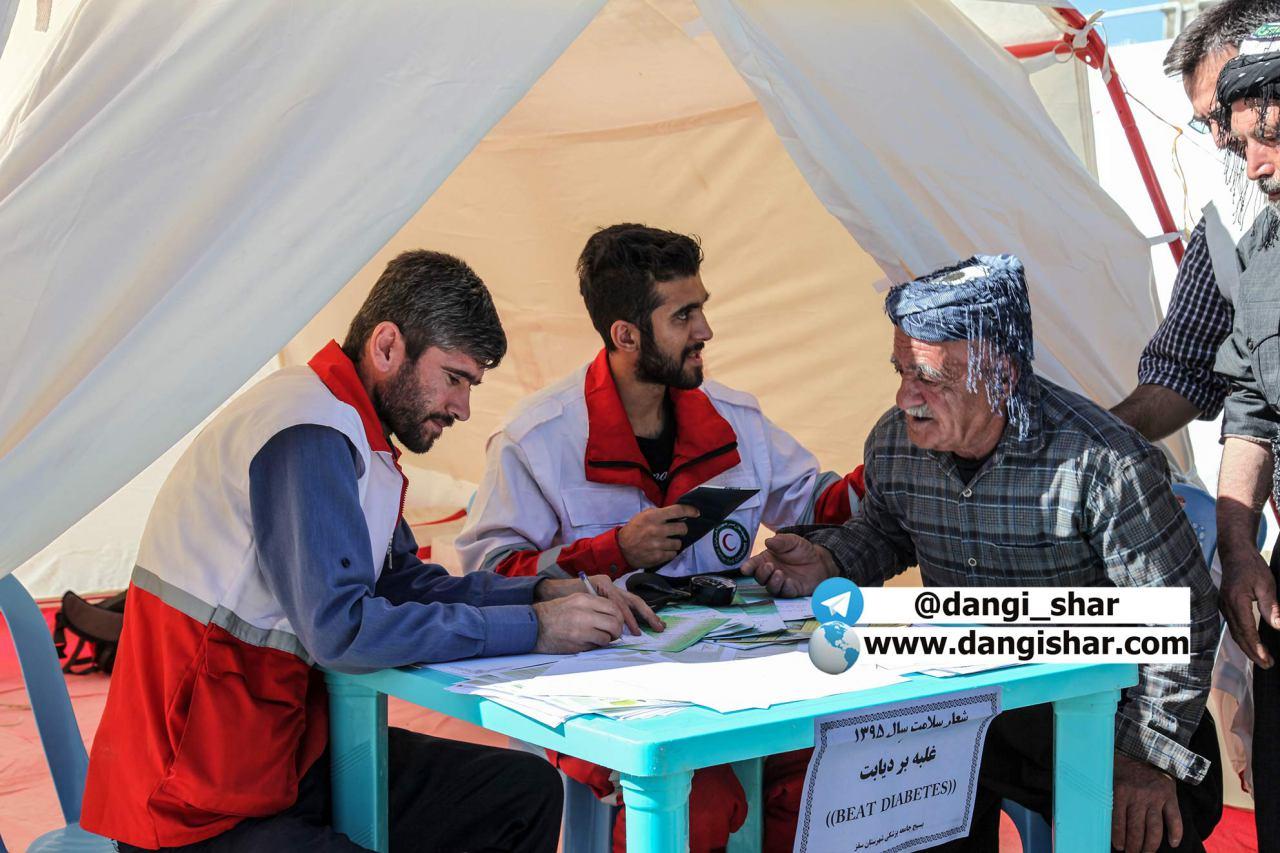 بیمارستان تخصصی امداد و درمان در شهرستان سقز برپا شد/ ویزیت بیش از 500 نفر در دهستان گلتپه