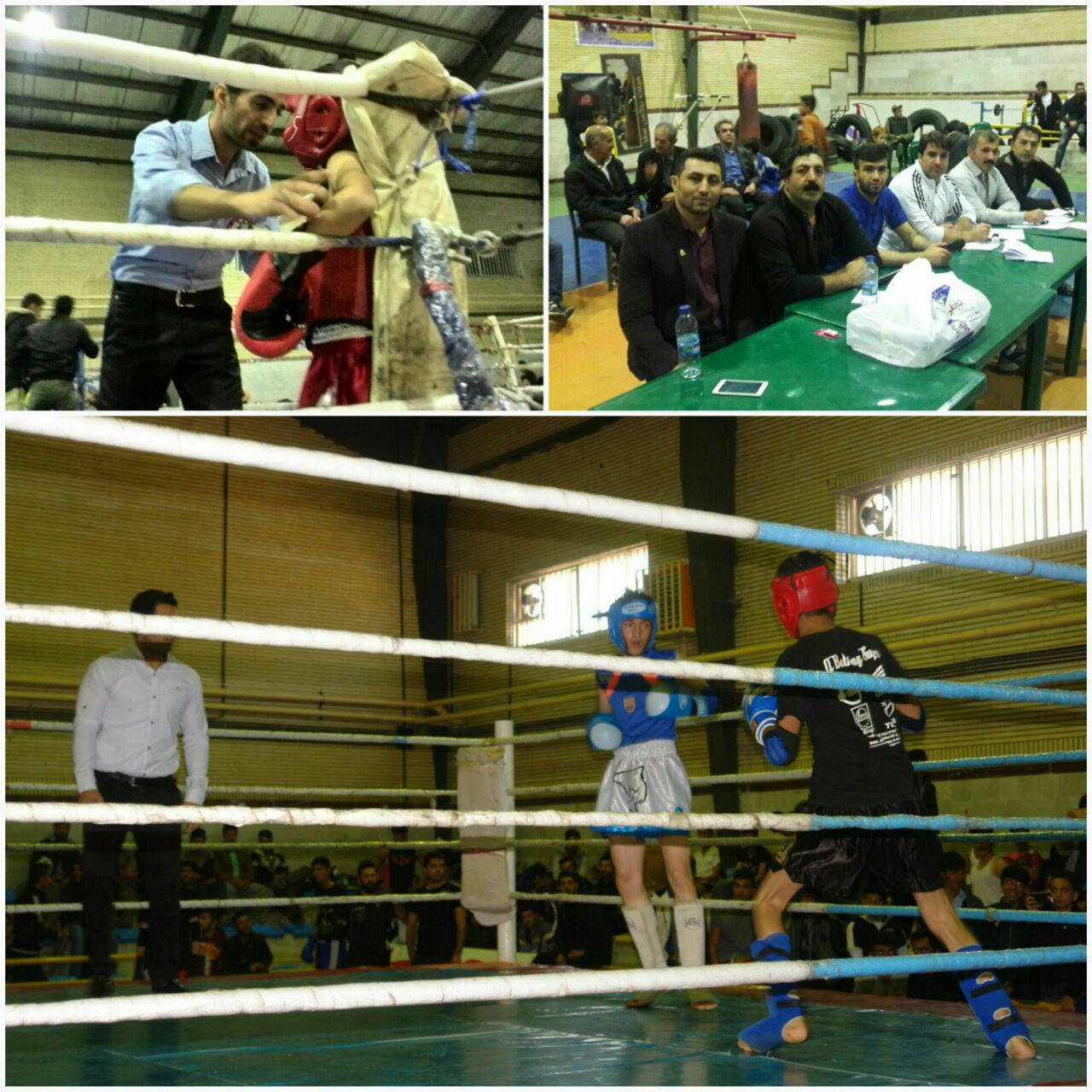 برگزاری رقابت های موی تای قهرمانی  شهرستان سقز