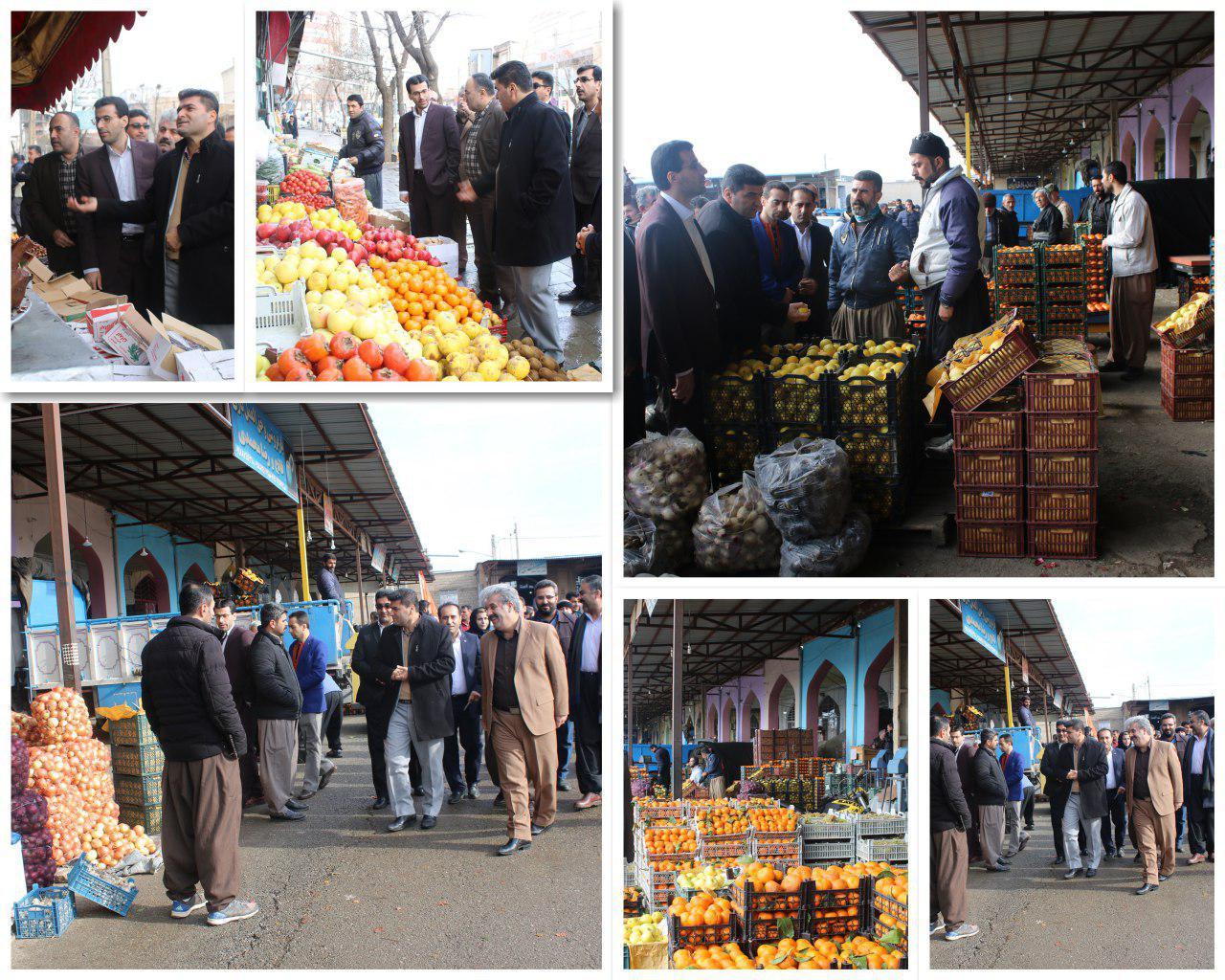 حضور فرماندارسقز و دادستان در بازار