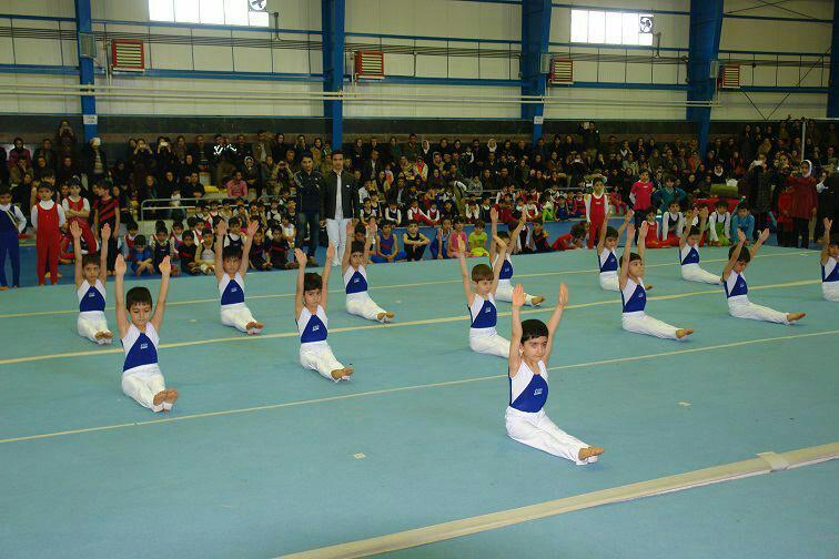 برگزاری مسابقات ژیمناستیک باشگاه های  شهرستان سقز