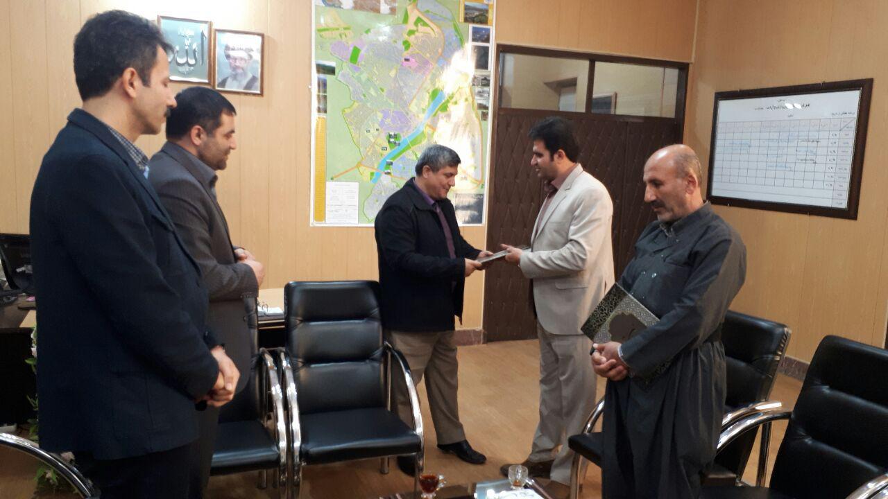 رئیس جدید راهداری و حمل و نقل سقز معرفی شد