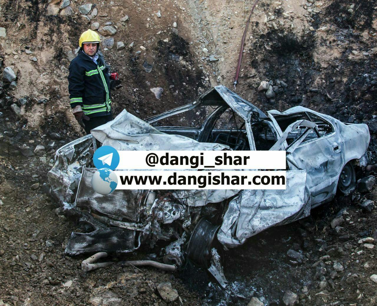 3 کشته و زخمی در واژگونی سواری سمند.