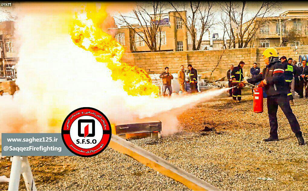 برگزاری مانور مشترک آتش نشانی و شرکت گاز شهرستان سقز