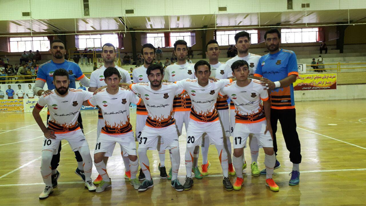 پیروزی  تیم ساکاپخش سقز در روز سوم  مرحله دوم مسابقات فوتسال لیگ دسته دوم باشگاه های کشور