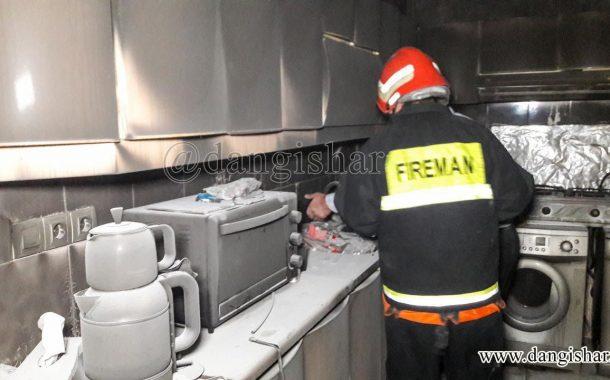 1 مصدوم در آتش سوزی واحد مسکن مهر