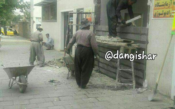 ورودی جدیدالاحداث آمبولانس به اورژانس بیمارستان امام تخته شد!!!!