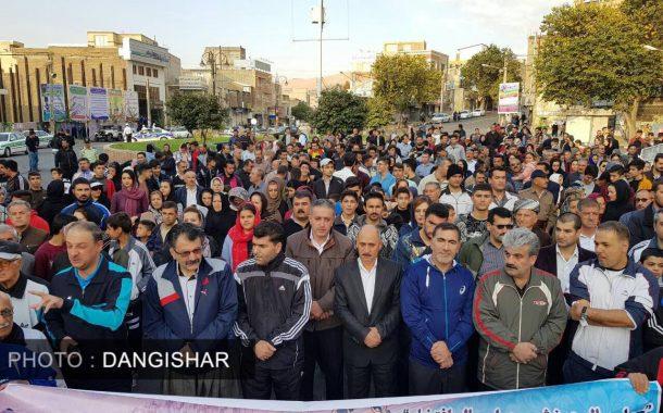 برگزاری همایش بزرگ پیاده روی در سقز با حضور گسترده مردم و مسؤلین