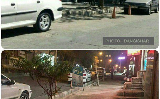 قابل توجه شهرداری سقز/مصادره پیاده رو و خیابان توسط تعدادی از کسبه بصورت شبانه روزی
